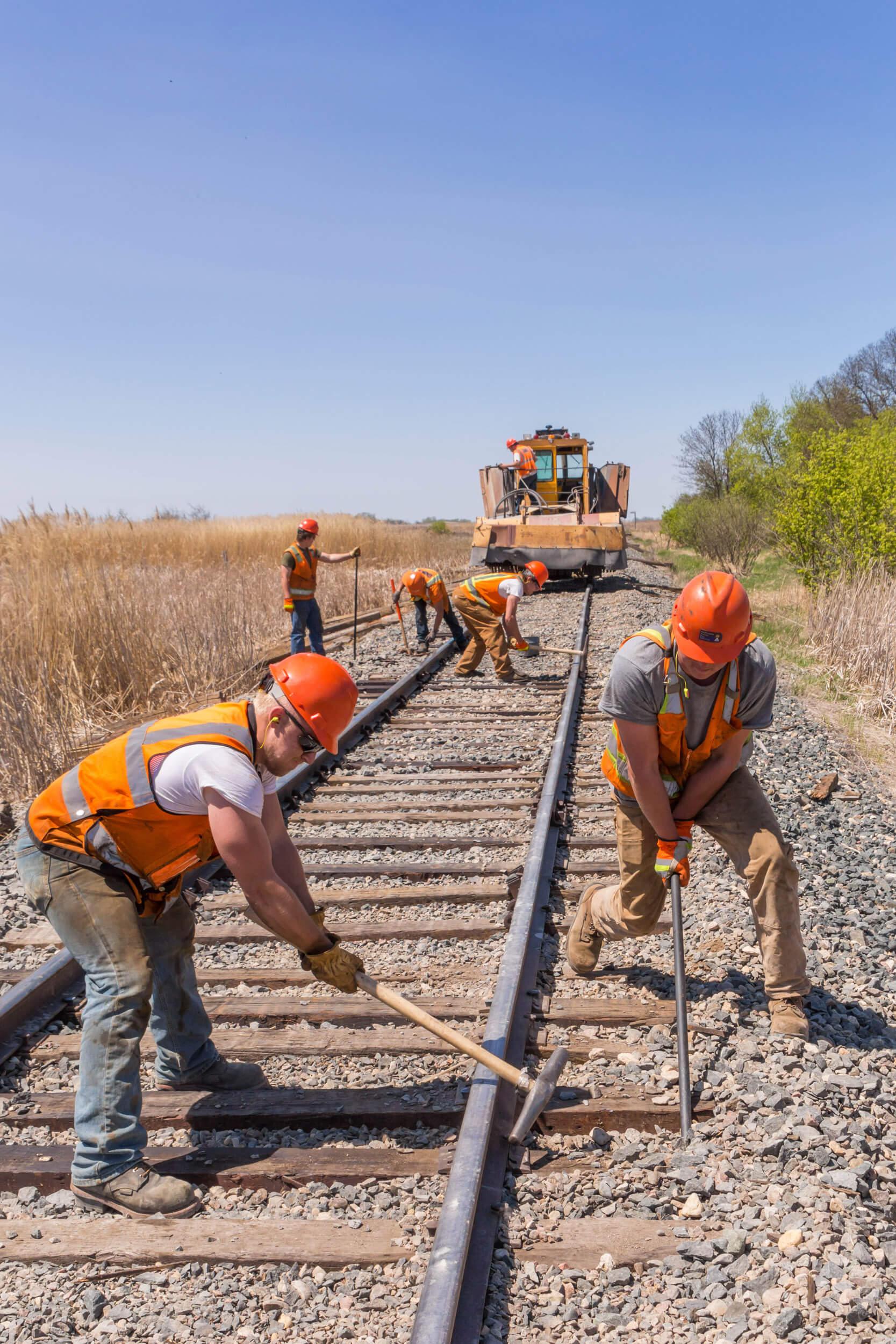 track repairing process