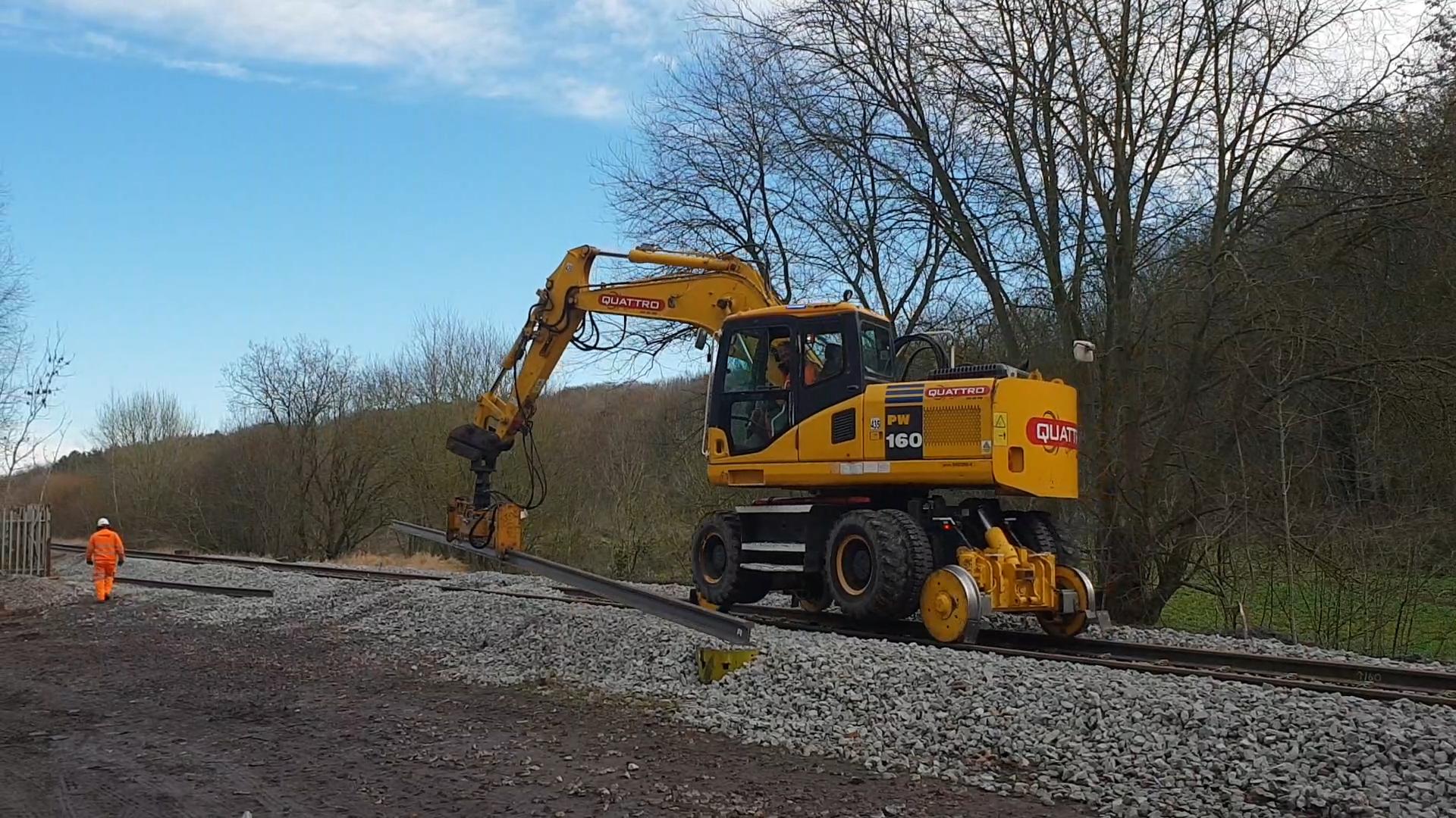 engineering work of rail tracks