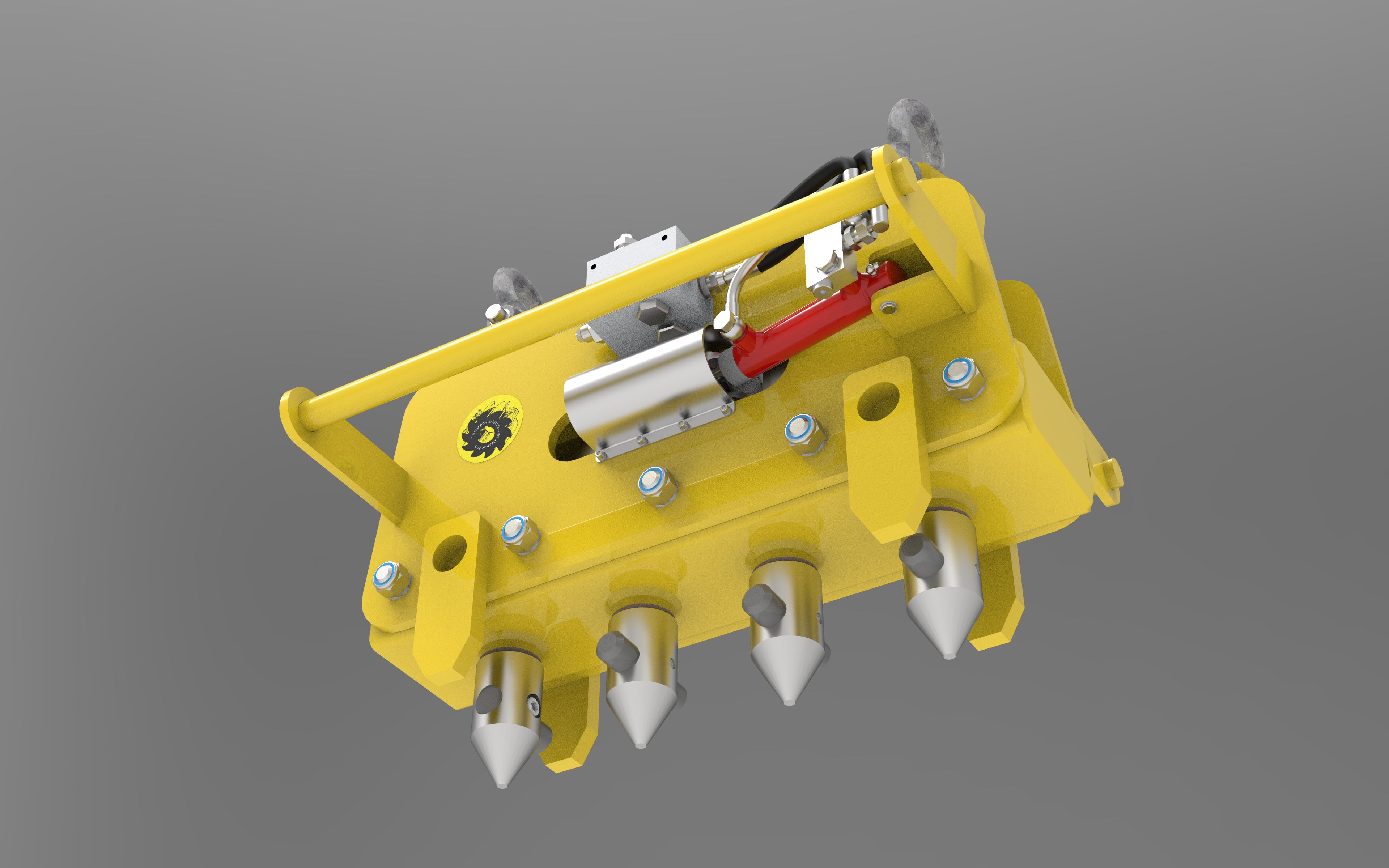 Hydraulic rail lifter for construction