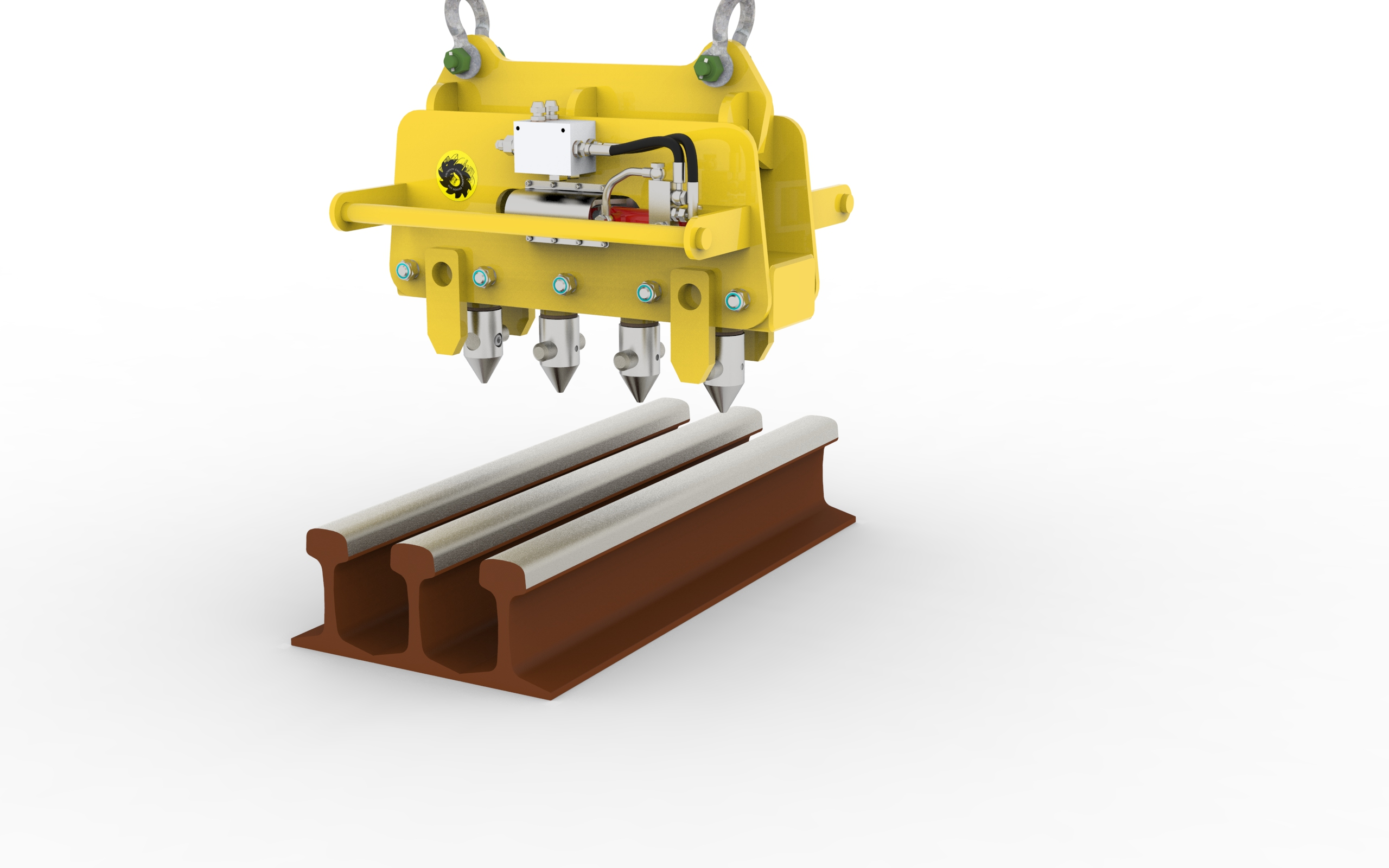 Hydraulic rail lifter for mechanic industry