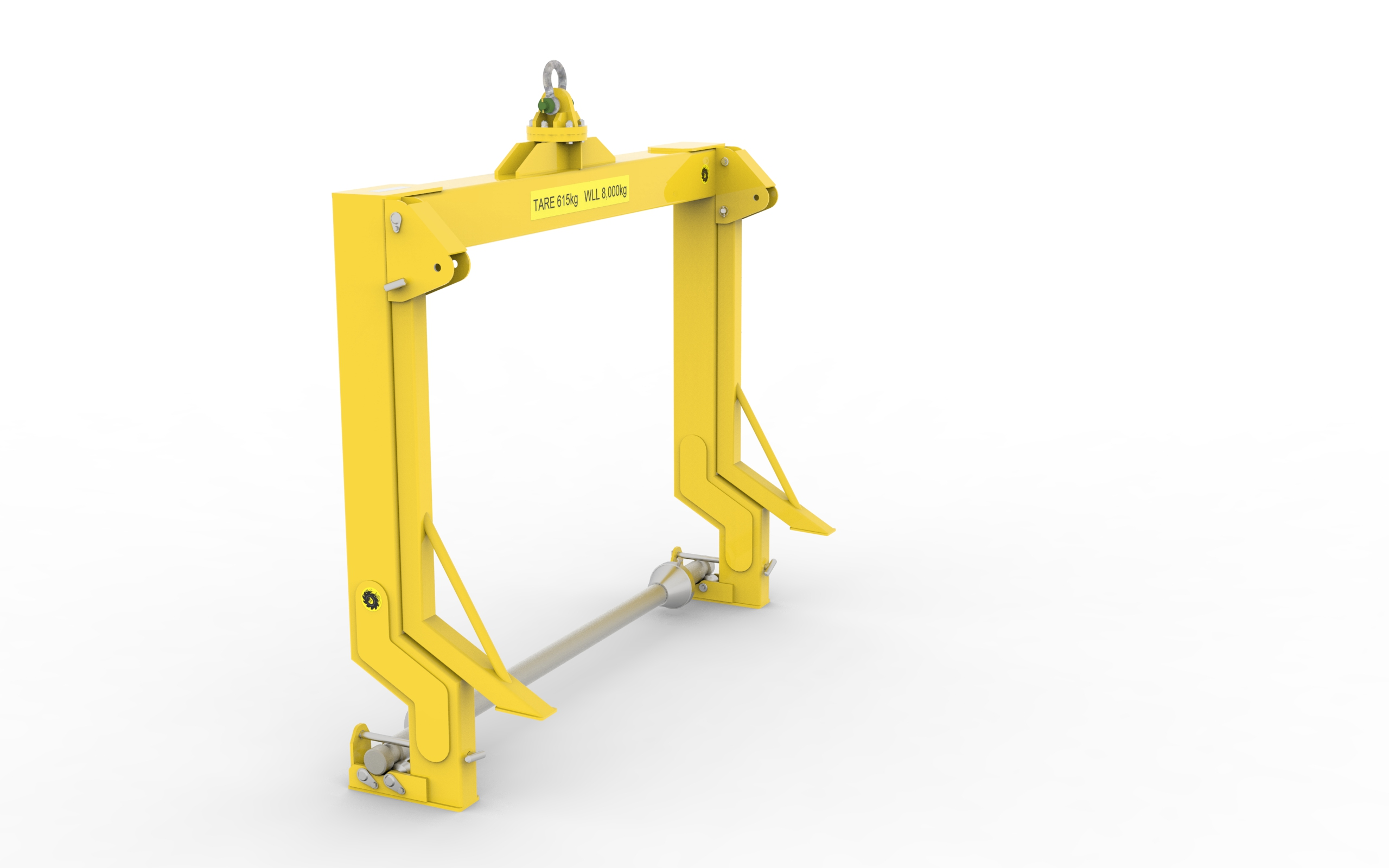 Integrated drum handler and cable layer for machines.